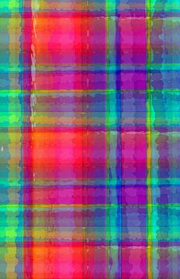 Digital Art - Bright Plaid by Louisa Knight