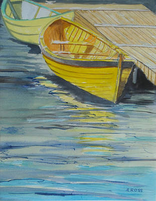 Art Print featuring the painting Bright Reflections by Anthony Ross