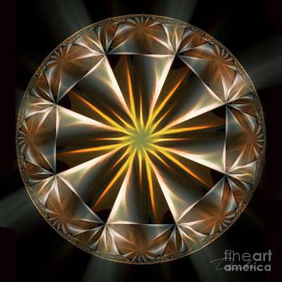 Digital Art - Bright Star by Danuta Bennett