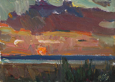 Painting - Bright Sunset by Juliya Zhukova