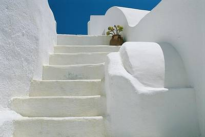 Slavic Photograph - Bright White Stairs And Walls Of One by Todd Gipstein