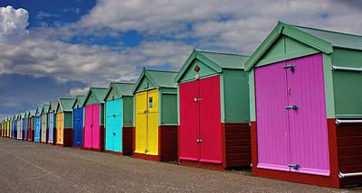 Brighton Beach Huts Art Print by Phil Clements