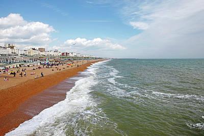 Promenade Photograph - Brighton Beach by Richard Newstead