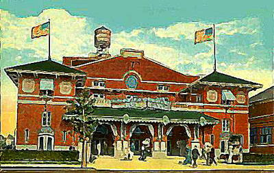 Brighton Beach Theatre At Coney Island In 1910 Art Print by Dwight Goss