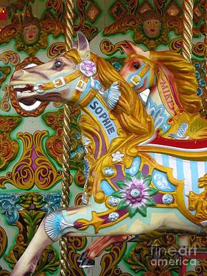 Brighton Carousel Art Print by Anne Gordon