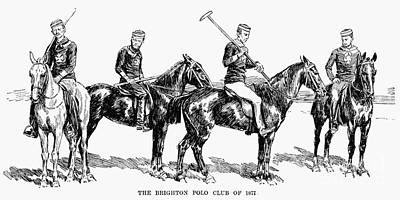 Brighton Polo Club, 1877 Art Print by Granger