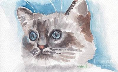 Cat Painting - Brilliant Eyes by Acqu Art