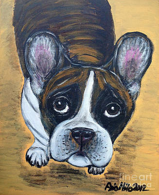 Painting - Brindle Frenchie by Ania M Milo