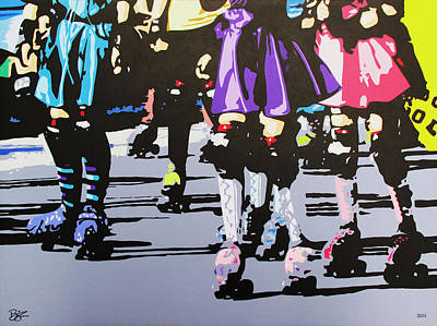 Roller Skate Painting - Bring It On by Lance Bifoss