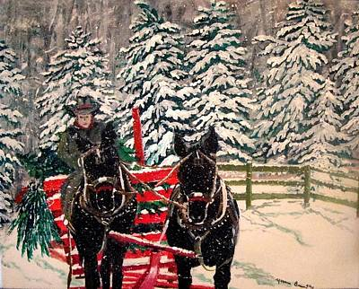 Bringing In The Christmas Trees Original