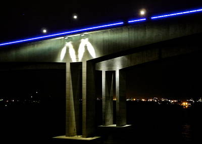 Photograph - Brisbane Bridge Just Before Dark by Kirsten Giving