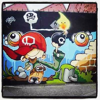 Comics Wall Art - Photograph - #bristolgraffiti #cheo #cheograff by Nigel Brown