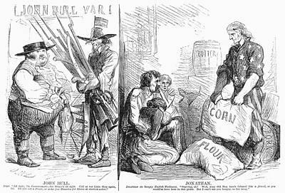 Britain And Civil War, 1862 Art Print by Granger