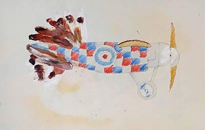 British Bird Plane Art Print by Virginia Stuart