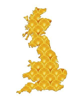 British Diet, Conceptual Artwork Art Print by Victor Habbick Visions