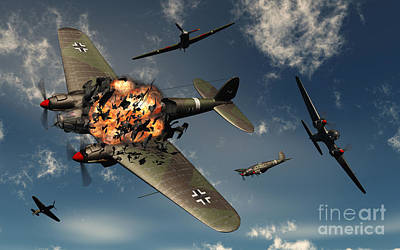 Digital Art - British Hawker Hurricane Aircraft by Mark Stevenson