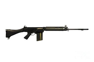 British L1a1 Self-loading Rifle Art Print by Andrew Chittock