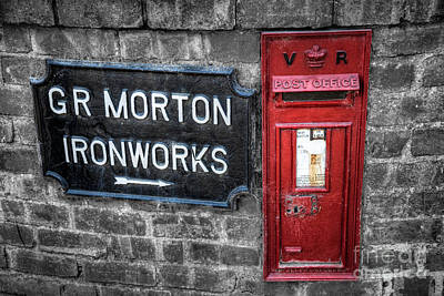 Mail Box Photograph - British Mail Box by Adrian Evans