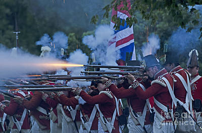 Photograph - British Night Battle by JT Lewis