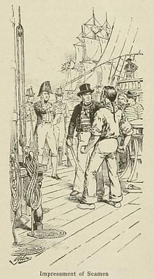 British Officers Impressing A Seaman Art Print