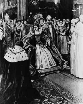 British Royalty. Queen Elizabeth I Art Print by Everett
