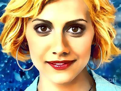 Overdose Digital Art - Brittany Murphy Portrait A by Andre Drauflos