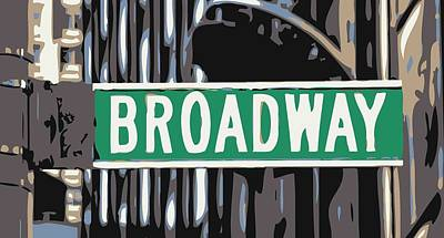 Broadway Sign Color 6 Art Print