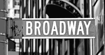 Broadway Sign Color Bw10 Art Print by Scott Kelley
