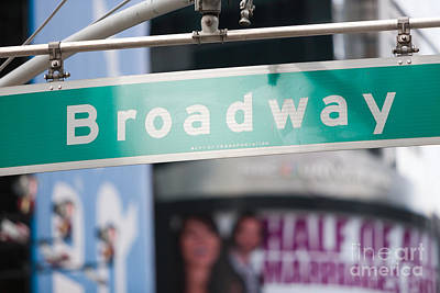 Broadway Street Sign I Print by Clarence Holmes