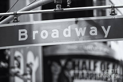 Broadway Street Sign II Print by Clarence Holmes