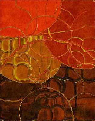 Tangerine Digital Art - Brocade Circles No.2 by Bonnie Bruno