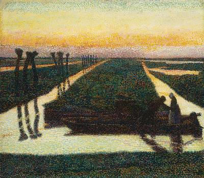 Pointillist Painting - Broek In Waterland by Jan Theodore Toorop
