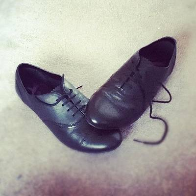 Leather Photograph - #brogues!!!! #awesomeee #black #leather by Megan Watts