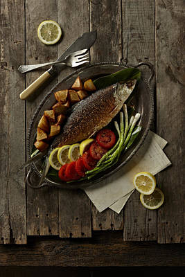 Y120817 Photograph - Broiled Fish by Lew Robertson