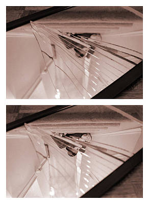 Photograph - Broken Mirror Duo No.1 And 2 by Katherine Huck Fernie Howard
