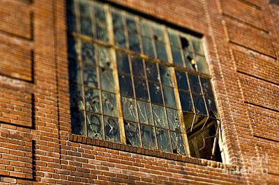 Dogpatch Photograph - Broken Window In Old Brick Building by Eddy Joaquim
