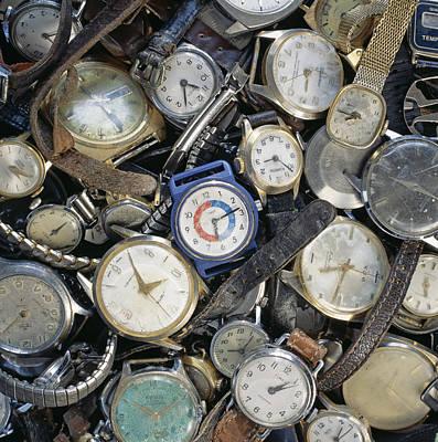 Broken Wrist-watches Art Print by Kevin Curtis