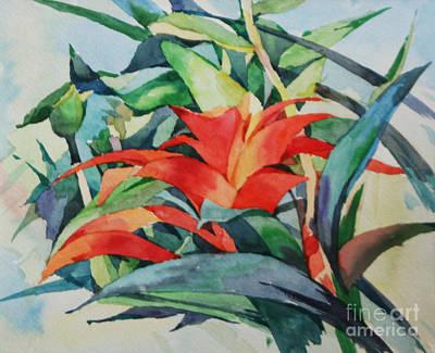 Painting - Bromeliad by Natalia Eremeyeva Duarte