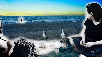 Digital Art - Bron And Christine by Joe Michelli