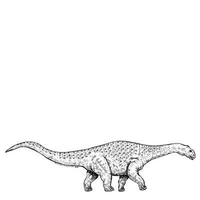 Brontonsaurs - Dinosaur Art Print by Karl Addison