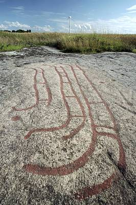 Bronze Age Petroglyph Art Print by Bjorn Svensson