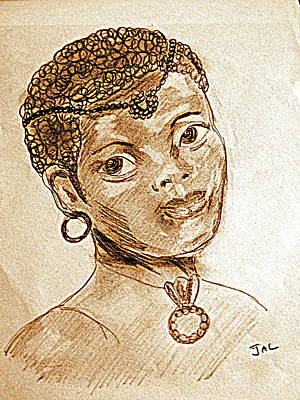 Sepia Ink Drawing - Bronze Beauty by Jacqui Kilcoyne