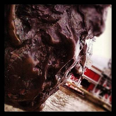 Photograph - Bronze Head, Bristol Harbour by Andy Hill