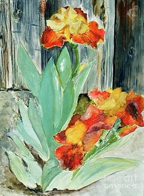 Painting - Bronze Iris by Sibby S