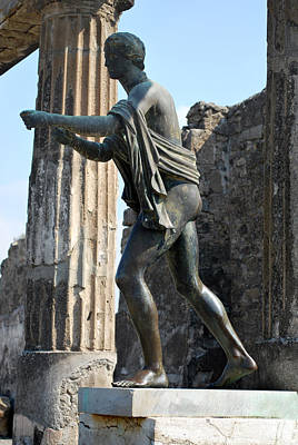 Photograph - Bronze Of Apollo. by Terence Davis