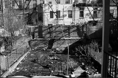 Photograph - Brooklyn Back Yard Black And White by Christopher Kirby