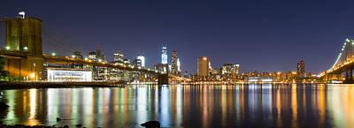 Photograph - Brooklyn Bridge - Reflections by Shane Psaltis