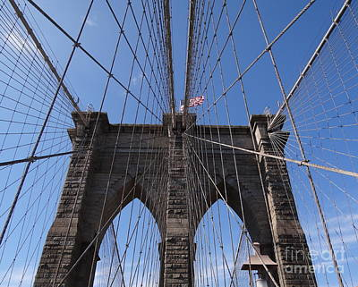 Photograph - Brooklyn Bridge 9 by Padamvir Singh