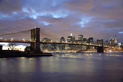 Brooklyn Bridge And Lower Manhattan Art Print by Axiom Photographic