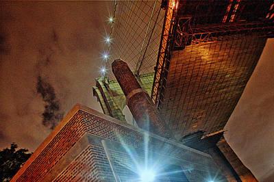 Brooklyn Bridge At Night Original by Alex AG